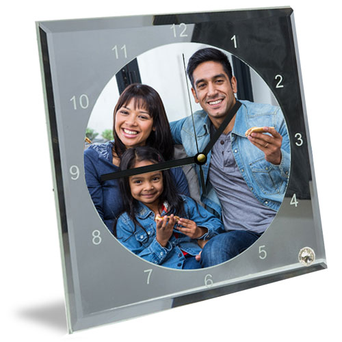 Mirror And Glass Photo Clock