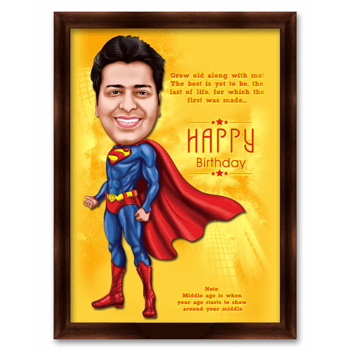 Superman Birthday Mini Caricature