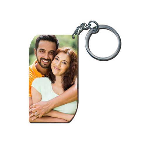Smart Wooden Photo Keychain