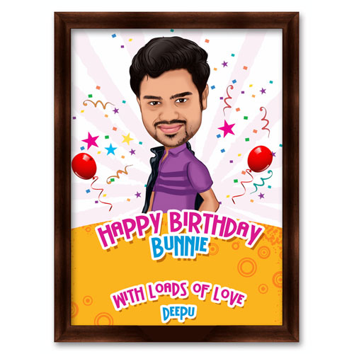 Happy Birthday Champ Caricature