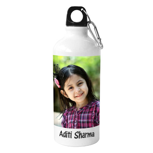 White Personalised Sipper Bottle