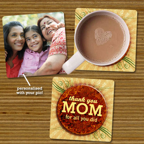 Thank You Mom Coasters Set