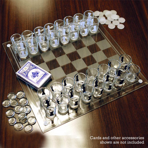 Chess Mini Shot Glass Set