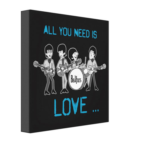 Beatles Framed Canvas - Rs.1250 : birthday anniversary gifts