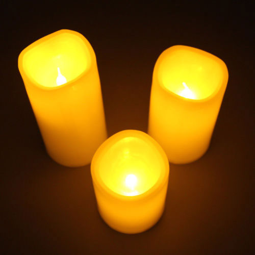 3 Piece LED Light Candle Set