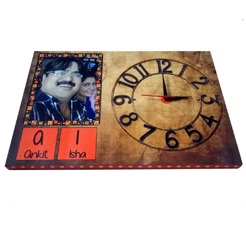 Canvas Personalised Clock