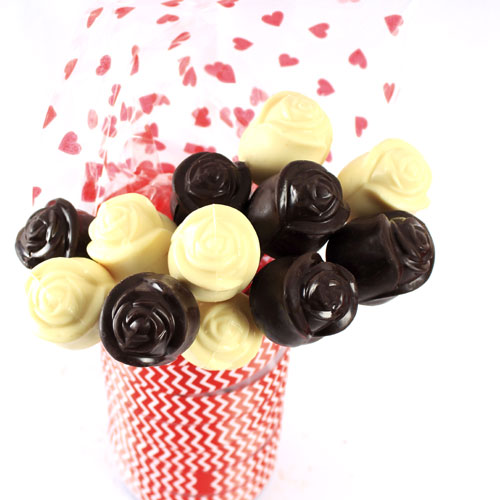 Black And White Chocolate Roses