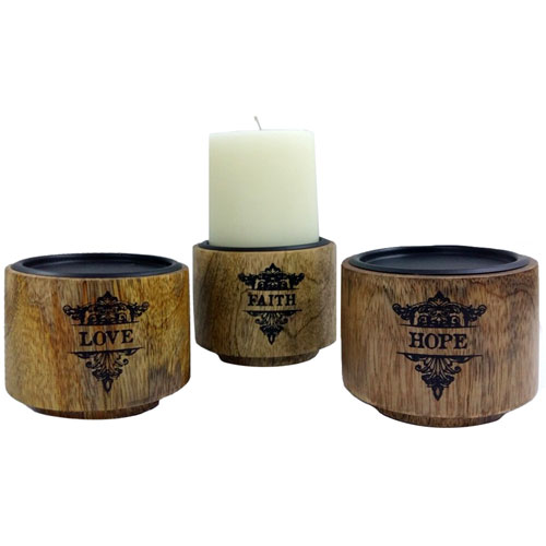 Love Faith Hope Candle Stands