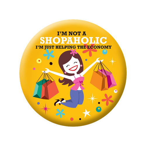 Shopaholic Badge