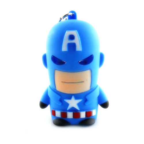 Captain America LED Keychain