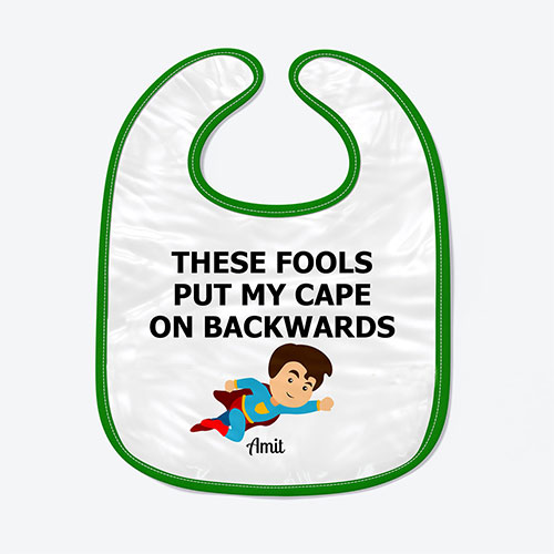 Superhero Personalised Baby Bib