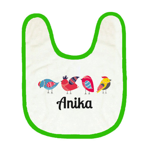 Cute Birdy Personalised Bib