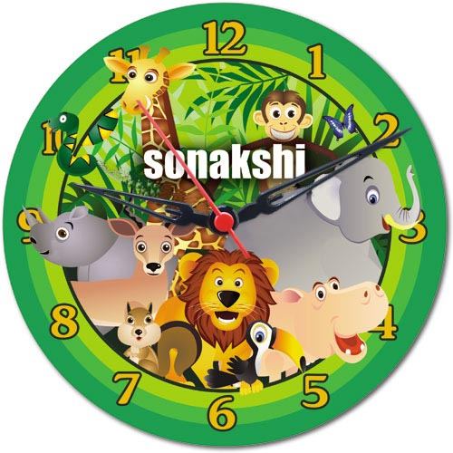Zoo Personalised Clock
