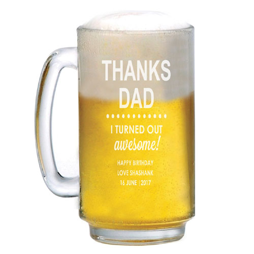 Dad Personalised Beer Mug