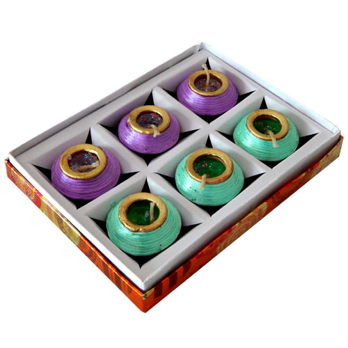 Colored Diya Set Of Six