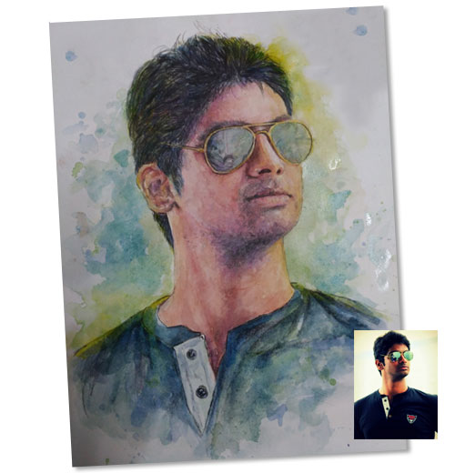 Watercolor Solo Portrait