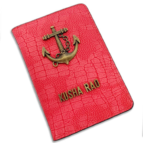 Red Anchor Personalised Passport Case