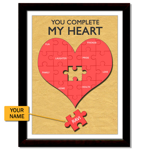 My Heart Personalised Framed Print