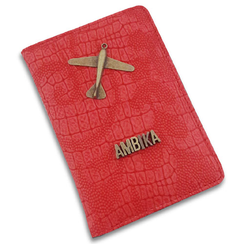 Red Plane Passport Cover