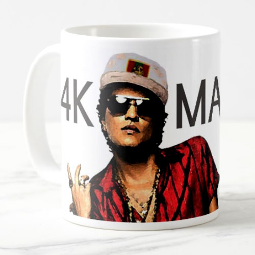 Bruno Mars Fan Art Mug