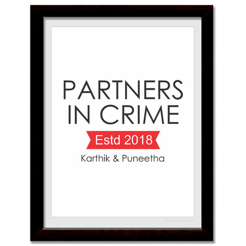 Partners In Crime Personalised Print
