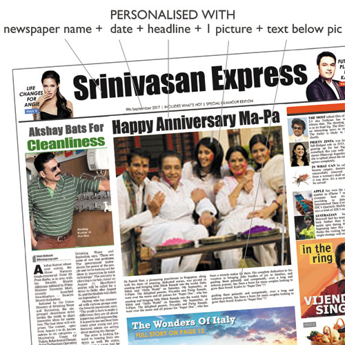 Personalised newspaper best quality lowest prices birthday personalised newspaper best quality lowest prices birthday anniversary rs499 birthday anniversary gifts bookmarktalkfo Choice Image