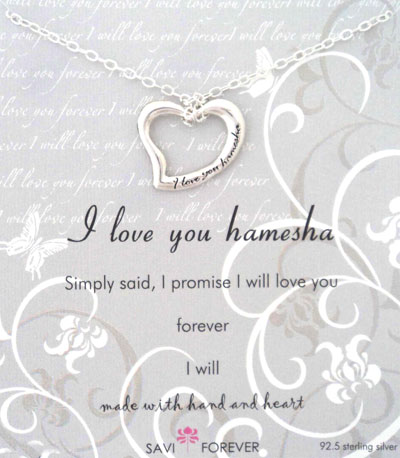 Love You Hamesha Silver Pendant & Chain