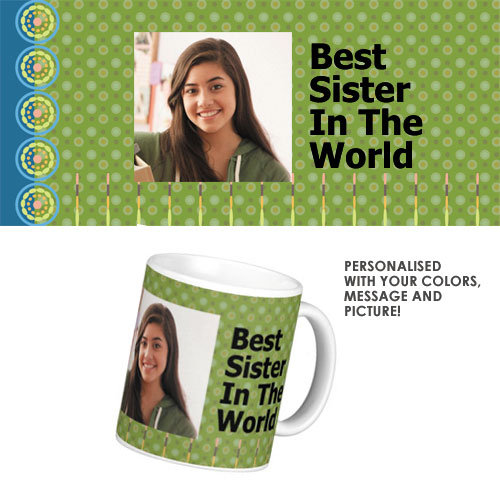 Wedding Anniversary Gifts For Sister And Brother In Law India : ... - rakhi personalised mug sister gift - Rs.195 : Gifts ideas in India