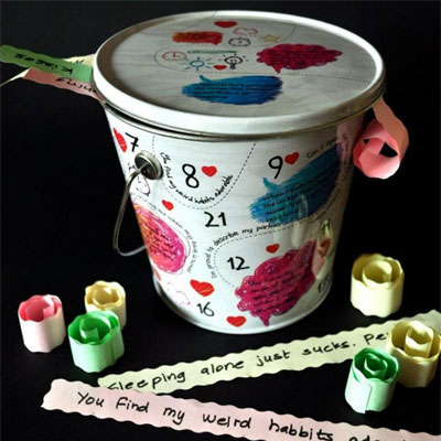 Wedding Gifts For Sister And Brother In Law In India : ... Love You - 100 reasons bucket - Rs.750 : Gifts ideas in India
