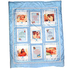 Baby Photo Quilt Cover