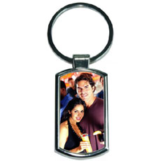 Rectangle Metal Photo Keychain