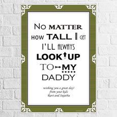 Look Up To Daddy Poster