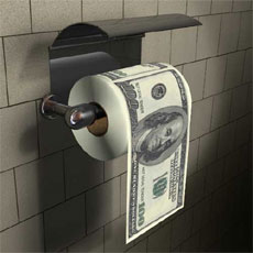 Dollars Toilet Roll