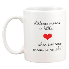 Long Distance Personalised Mug