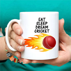 Eat Sleep Dream Cricket Personalised Mug