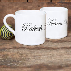Couples Personalised Tea Cup Set