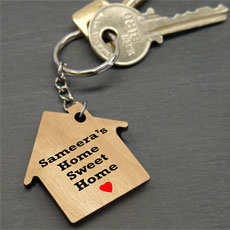 Personalised Home Keychain