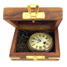 Antique Pocket Watch With Box