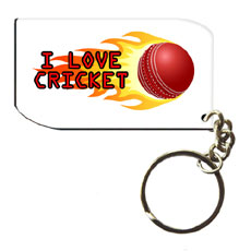 Cricket Wooden Keychain