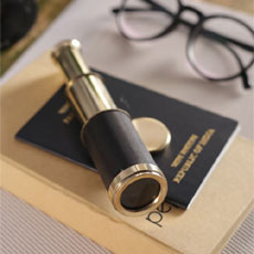 Mini Vintage Telescope With Box