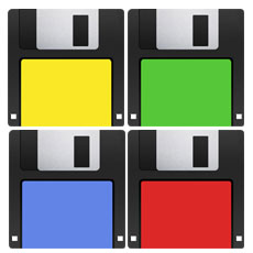 Floppy Disk Coasters Set