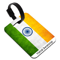 Flag Personalised Luggage Tag