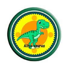 Kids Dinosaur Name Badge