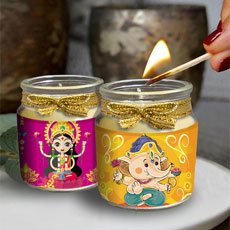 Laxmi Ganesha Cute Candles Set