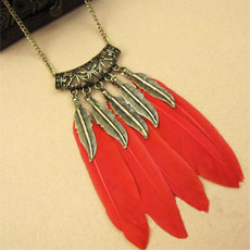 Ethnic Feather Necklace
