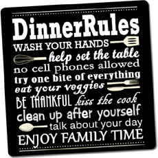Dinner Rules Fridge Magnet