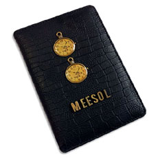 Black Personalised Passport Case