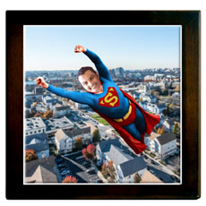 Personalised Superhero Framed Memento