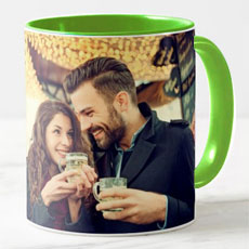 Green Personalised Photo Mug