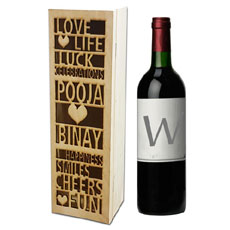 Name Cutout Wine Box